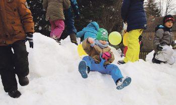 Eine Ladung voller Schnee