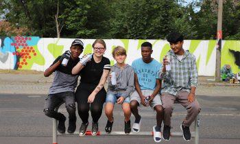 Graffiti-Projekt: Jugendliche beseitigen Schandfleck