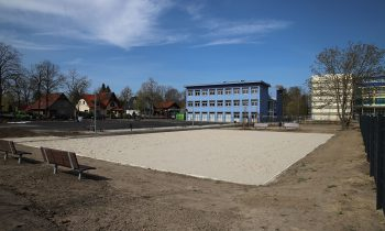 An der Ecke Theodor-Fontane-Straße und Fritz-Reuter-Straße wurde eine ungenutzte Fläche zum Sportplatz umgestaltet. Foto: Marcel Gäding