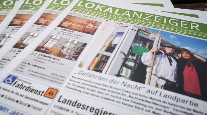 Der Lokalanzeiger ist die Lokalzeitung in Storkow.