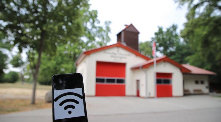 Freies WLAN ist auch am neu gebauten Feuerwehrgerätehaus und Gemeindezentrum von Philadelphia geplant. Foto: Marcel Gäding