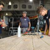 Storkower Schüler restaurieren Kutter