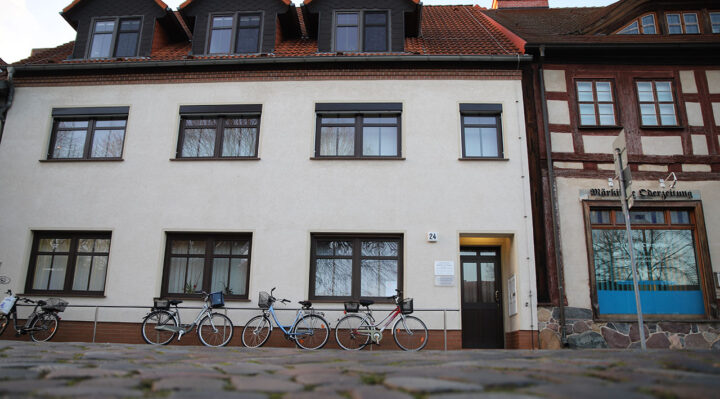 Das Haus mit dem Konfektionsgeschäft von Felix Todtenkopf existiert nicht mehr. An dessen Stelle entstand ein neues Gebäude. Foto: Marcel Gäding