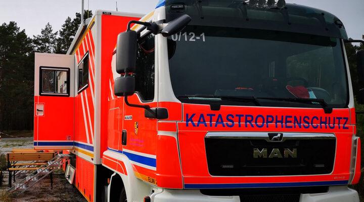In einem Einsatzleitwagen wie diesem koordiniert der Katastrophenschutz des Landkreises Oder-Spree Einsätze. Foto: Marcel Gäding