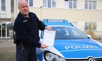 Vorsicht, Betrug! Post von der Polizei Storkow (Mark)